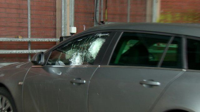 Police car after shooting