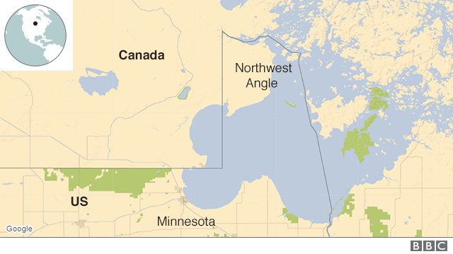 Map Of The Us Canada Border Minnesota Should the US hand over Minnesota's Northwest Angle to Canada