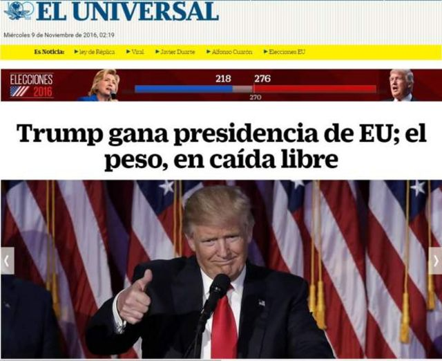 Report from Mexico's El Universal