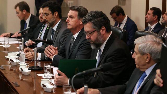 Bolsonaro durante visita ao Japão, em turnê pela Ásia