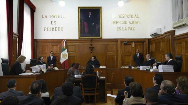 Sesión de la Suprema Corte de Justicia de la Nación