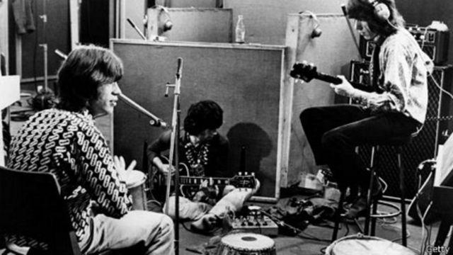 Мік Джаґґер та Кіт Річардс у студії, 1968