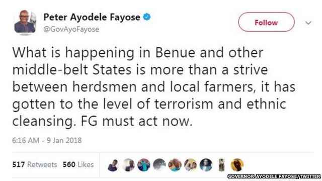 Governor Ayodele Fayose for Twitter