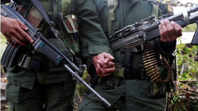 Бойцы колумбийской повстанческой группировки ФАРК в провинции Кордильера Ориенталь 16 августа 2016 года