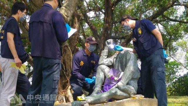 台湾知名的日本人土木技师八田与一铜像在16日被发现遭断头
