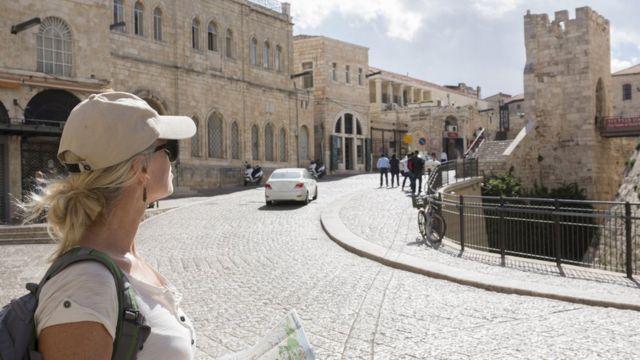 Turista em Jerusalén