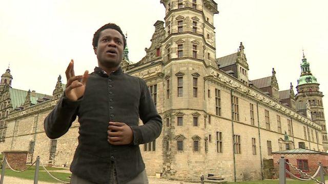 Naeem Hayat plays Hamlet at Elsinore Castle in Denmark