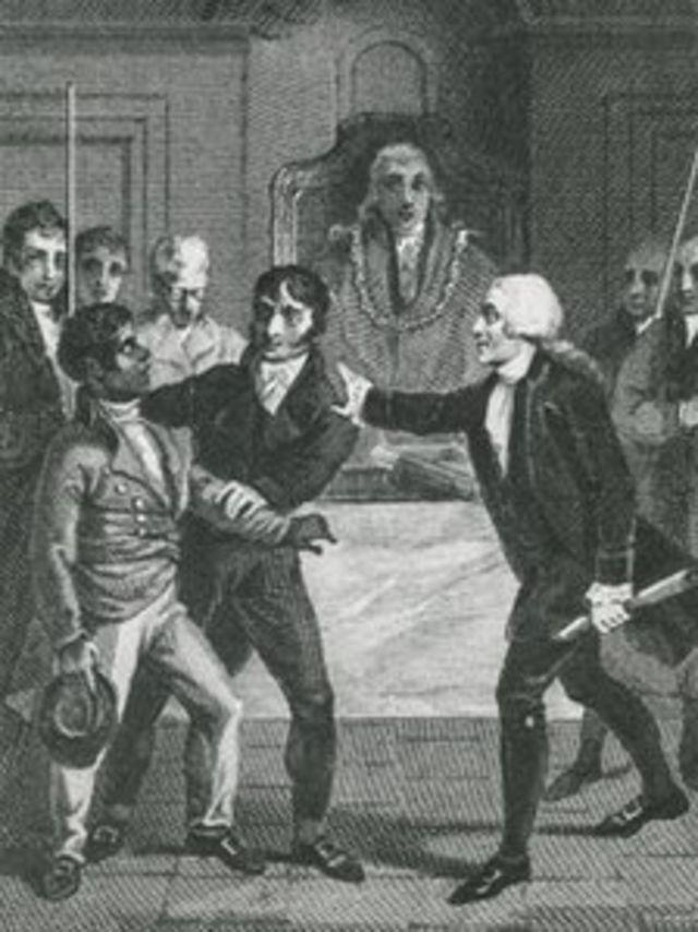 Granville Sharp defendendo a causa de um africano escravizado