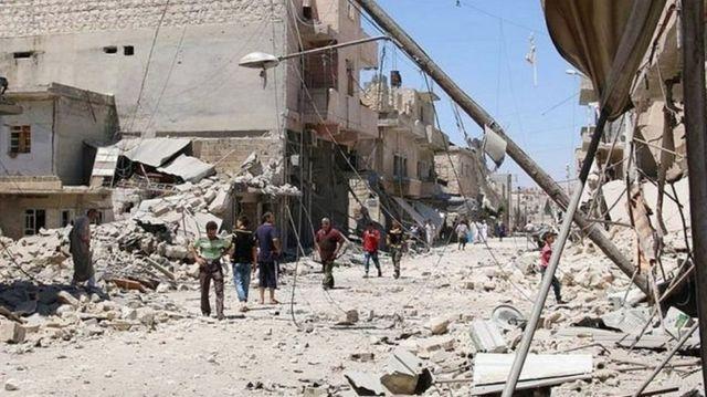 Mji wa Aleppo unavyoonekana hivi sasa
