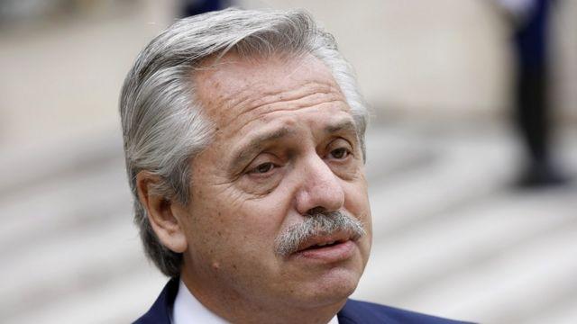 Argentine President Alberto Fernández