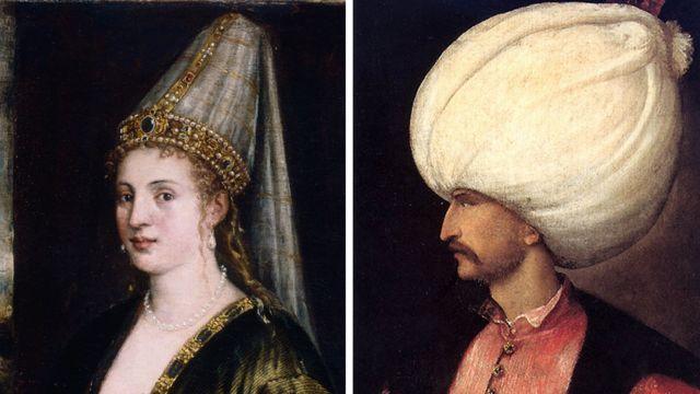 Roxelana e Solimão, em duas pinturas