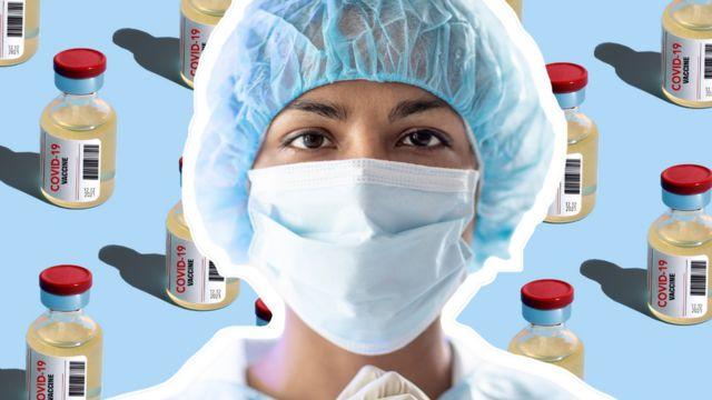 maskeli hemşire