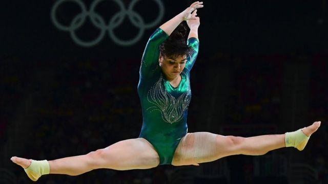Alexa Moreno durante sua participação na Rio 2016