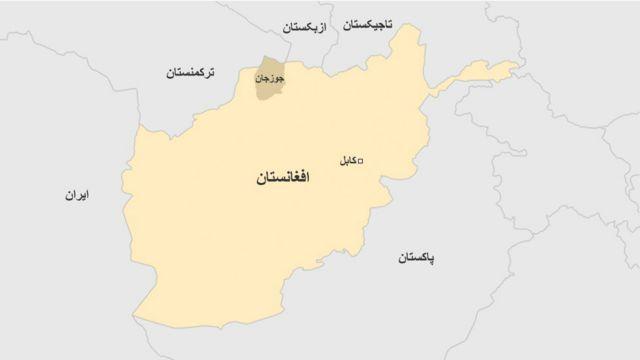 نقشه جوزجان