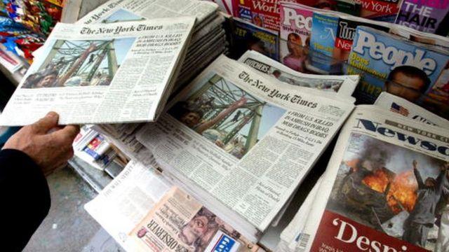 Periódicos estadounidenses.