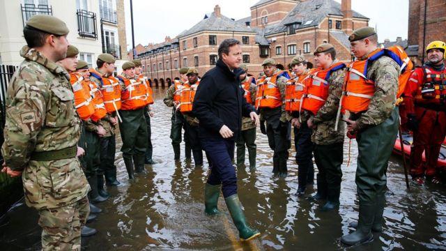 UK floods: PM pledges £40m to fix defences