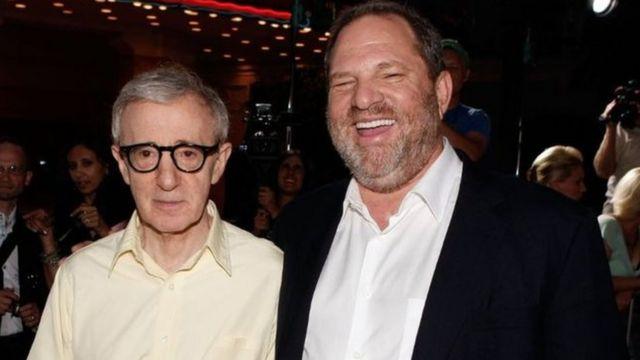 Woody Allen y Harvey Weinstein.