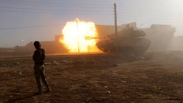 Türkiyə qoşunları, tankları və artilleriyası 3 aydır ki İD-ə qarşı döyüşən qiyamçıları dəstəkləyir
