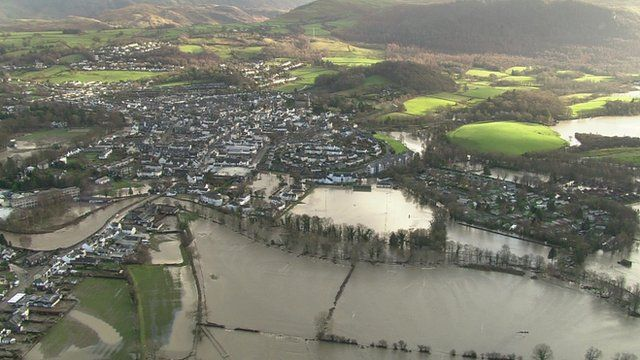 Aerial picture of UK floods