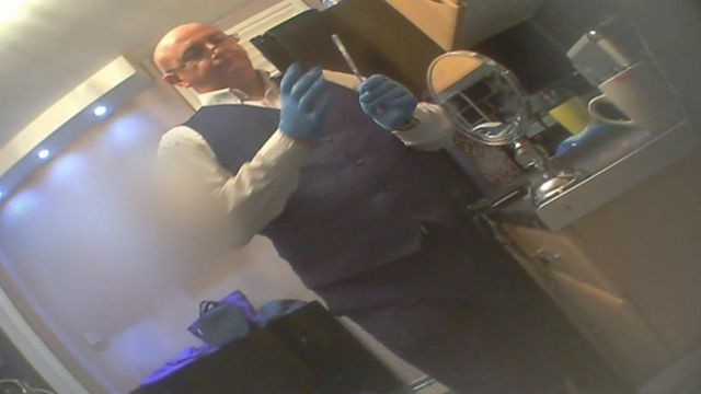 Jonathan Henk, who describes himself as 'Jonny Botox', filmed in Wolverhampton