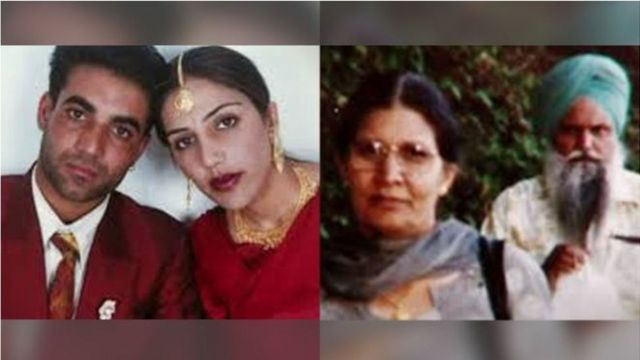 Sukhvinder Mithu with Jassi Sidhu(left picture) and Jassi's mother and uncle(left Picture)