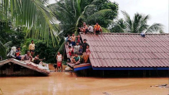 Lào, vỡ đập thủy điện