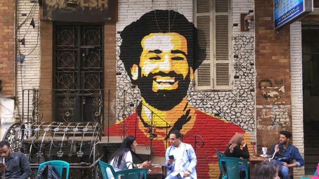 Mo Salah mural in Cairo