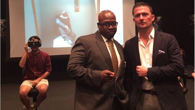 Terence Slater y Eric Jensen durante el evento.