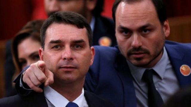 Flavio e Carlos Bolsonaro