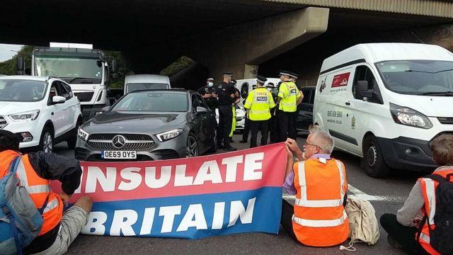 Protestas climáticas en la M25