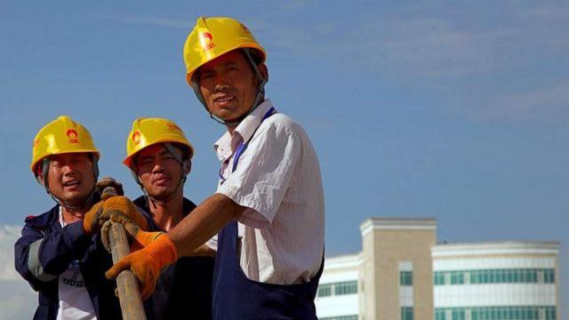 Trabajadores chinos en Astana