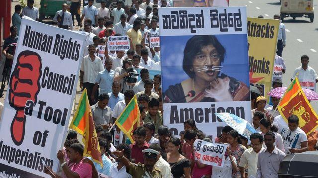 Protestas en Sri Lanka contra el Consejo de Derechos Humanos de la ONU
