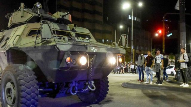 Tanque en las calles de Bogotá