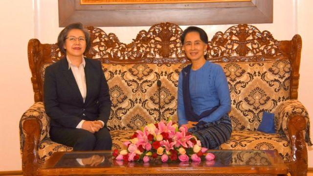 Yanghee Lee meets Daw Aung San Suu Kyi