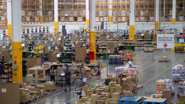 Depósito da Amazon no Brasil