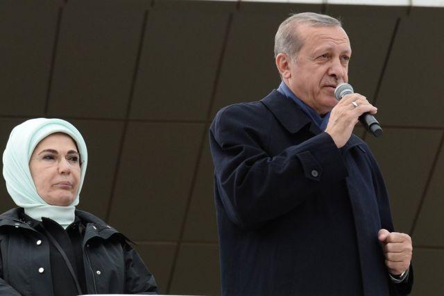 Erdoğan Ankara'da konuşurken