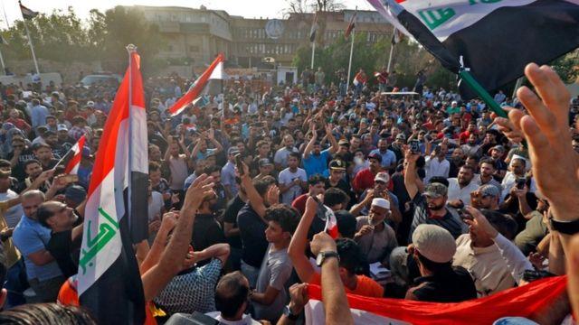 الاحتجاجات في البصرة