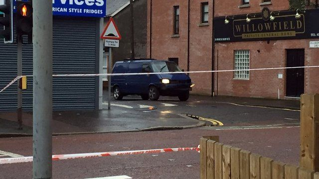 A bomb exploded under the prison officer's van in east Belfast on Friday morning
