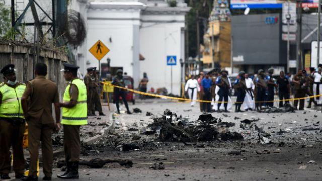 Rua interdidata no Sri Lanka após ataques