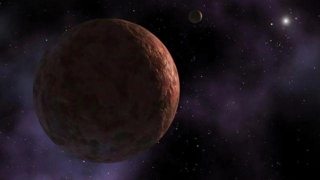 كوكب سدنا القزم له مدار غير مألوف قد يعزى إلى قوة السحب الناتجة عن جاذبية كوكب عملاق لم يكتشف بعد Nasa/ JPL-Caltech