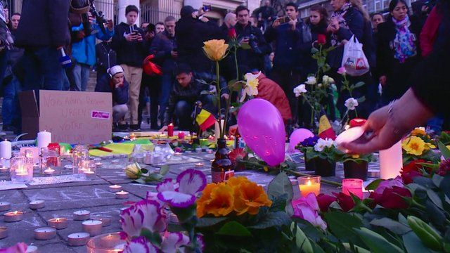 Vigil for victims in Brussels
