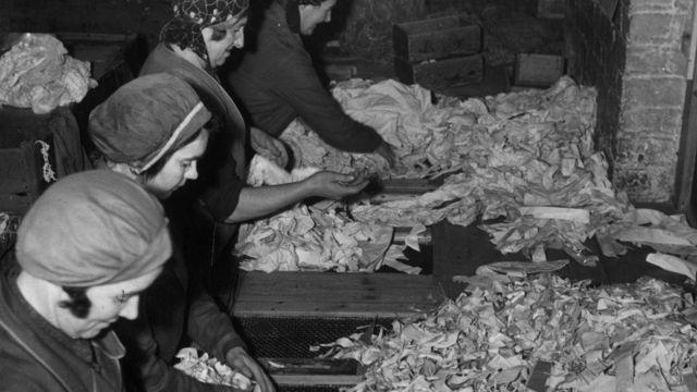 Reciclaje de papel en 1935