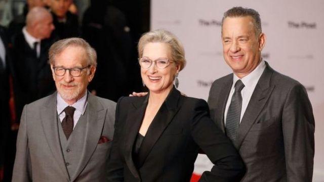 Stephen Spielberg, Meryl Streep dan Tom Hanks