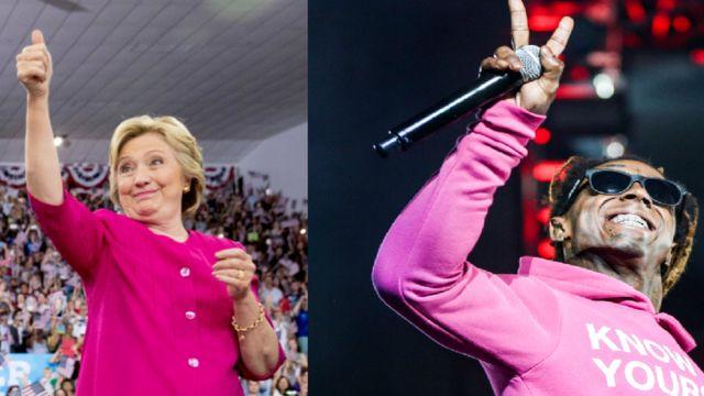Хиллари Клинтон и Лил Уэйн