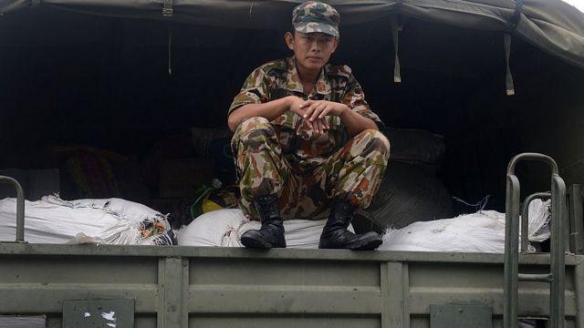 सिक्किम में भारतीय जवान