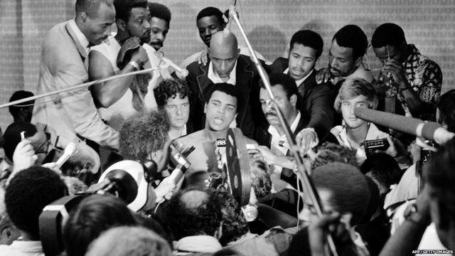 Muhammad Ali, an American professional boxer and activist