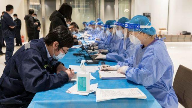 Proceso de vacunación en Pekín.