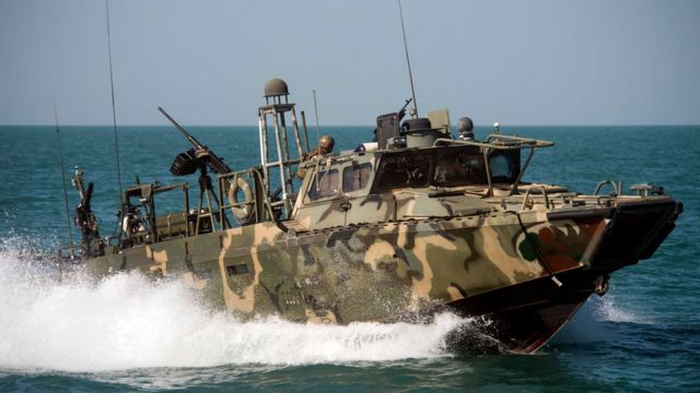 Un bote de EE.UU. fue capturado por Irán en aguas de su territorio