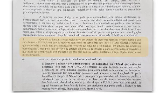 Documento da Funai