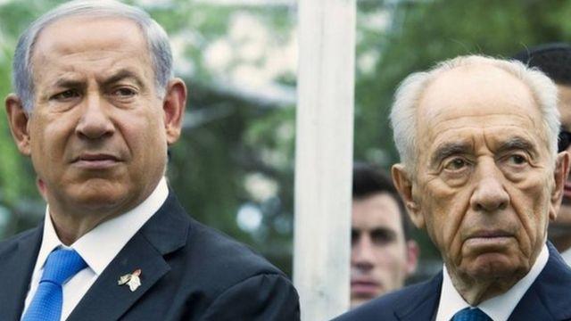 Şimon Peres və Benyamin Netanyahu